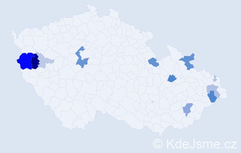 Příjmení: 'Genčúrová', počet výskytů 30 v celé ČR
