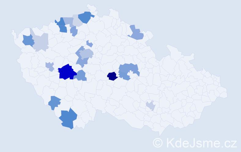 Příjmení: 'Feltová', počet výskytů 68 v celé ČR