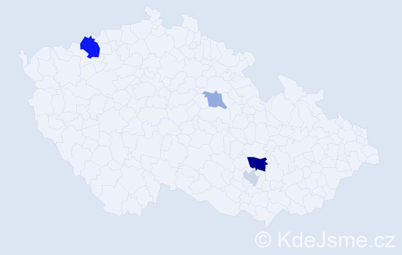 Příjmení: 'Láncošová', počet výskytů 8 v celé ČR