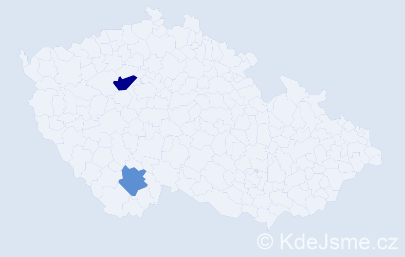 Příjmení: 'Dusbábková', počet výskytů 3 v celé ČR