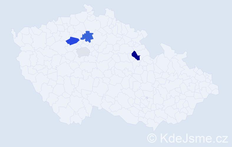 Příjmení: 'Inguort', počet výskytů 4 v celé ČR