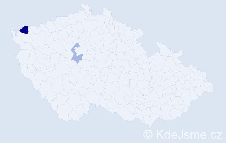 Příjmení: 'Čišková', počet výskytů 2 v celé ČR