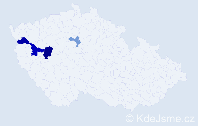 Příjmení: 'Blažovský', počet výskytů 6 v celé ČR