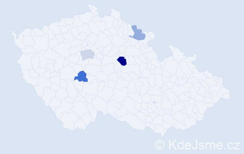 Příjmení: 'Antos', počet výskytů 8 v celé ČR