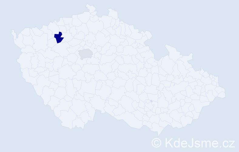 Příjmení: 'Hautkeová', počet výskytů 2 v celé ČR