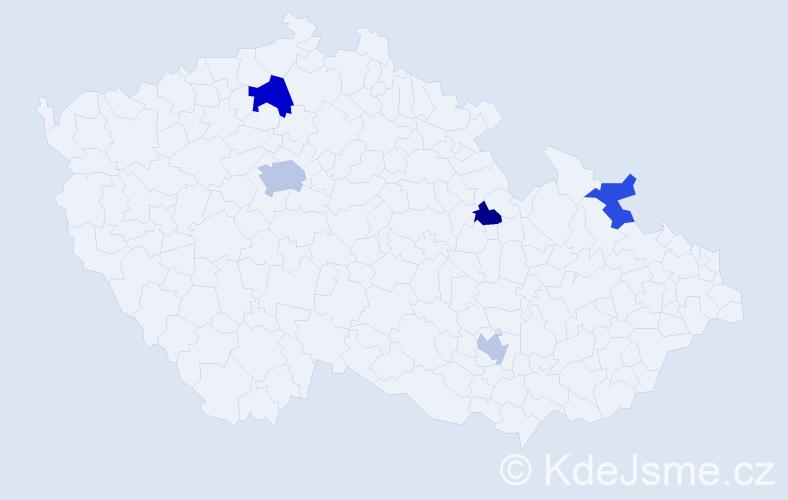 Příjmení: 'Alexandridis', počet výskytů 8 v celé ČR