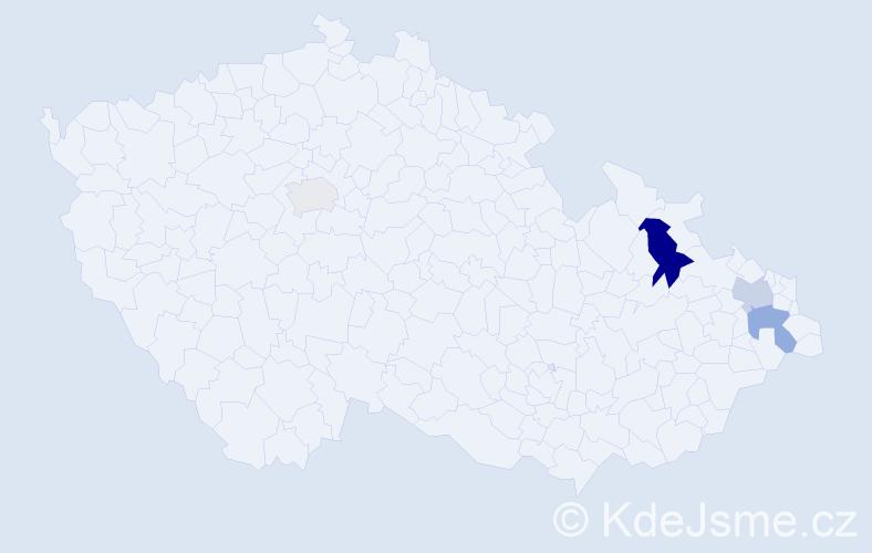 Příjmení: 'Dembovský', počet výskytů 15 v celé ČR