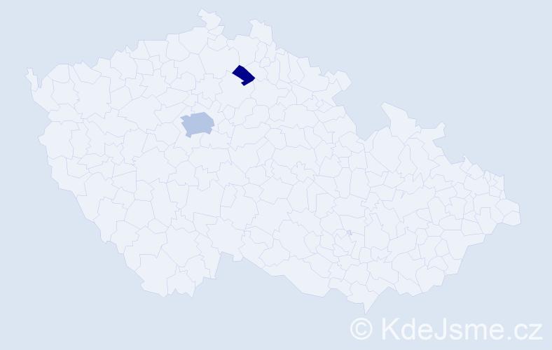 Příjmení: 'Kneidlová', počet výskytů 6 v celé ČR