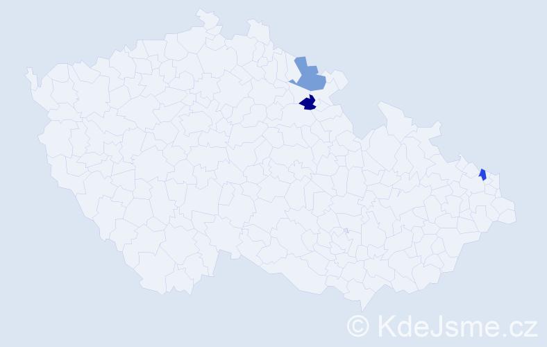 Příjmení: 'Karoliová', počet výskytů 6 v celé ČR
