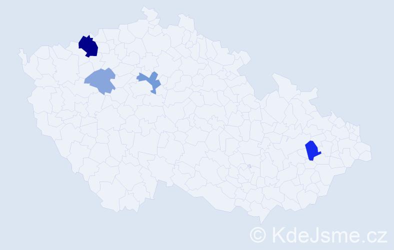 Příjmení: 'Babinčáková', počet výskytů 11 v celé ČR