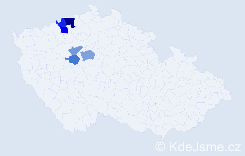 Příjmení: 'Heisslerová', počet výskytů 14 v celé ČR