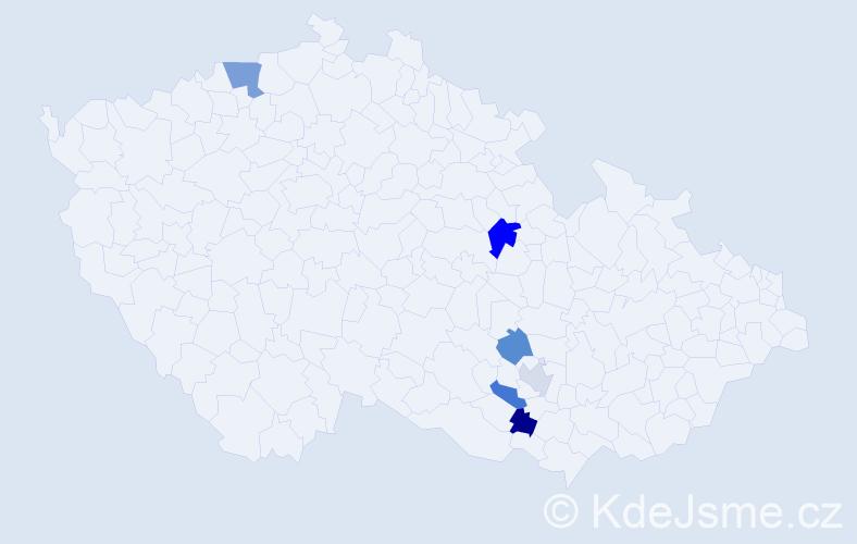 Příjmení: 'Iskrová', počet výskytů 8 v celé ČR