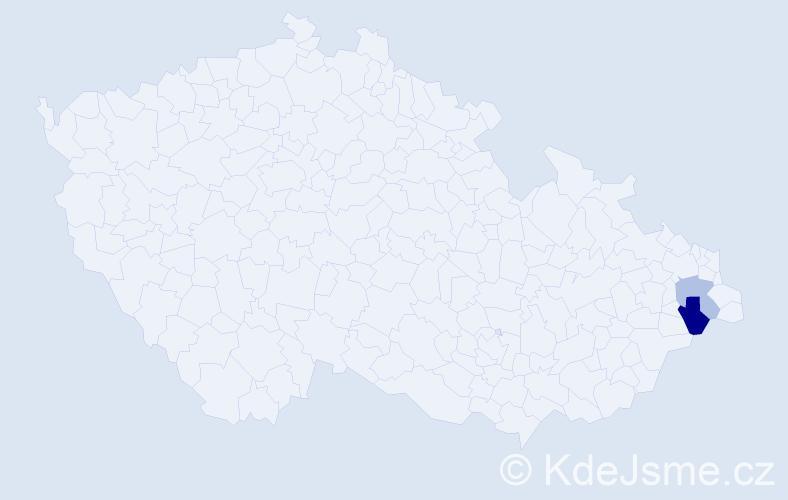 Příjmení: 'Godovčík', počet výskytů 3 v celé ČR