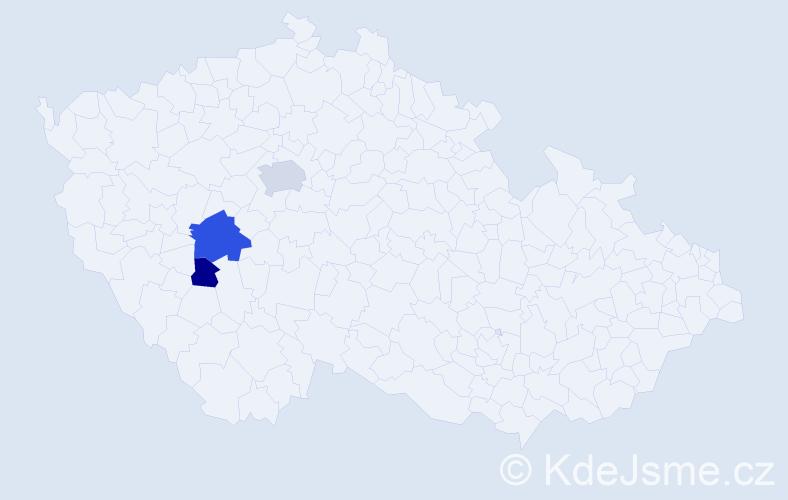 Příjmení: 'Jašprová', počet výskytů 7 v celé ČR