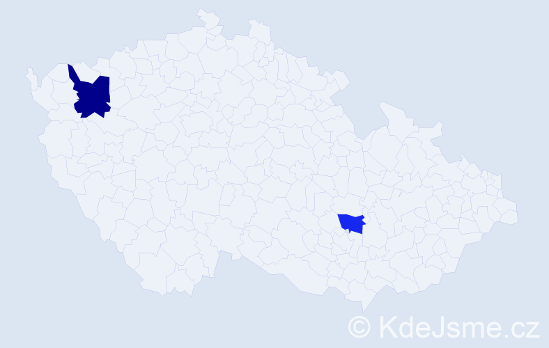 Příjmení: 'Flórian', počet výskytů 3 v celé ČR