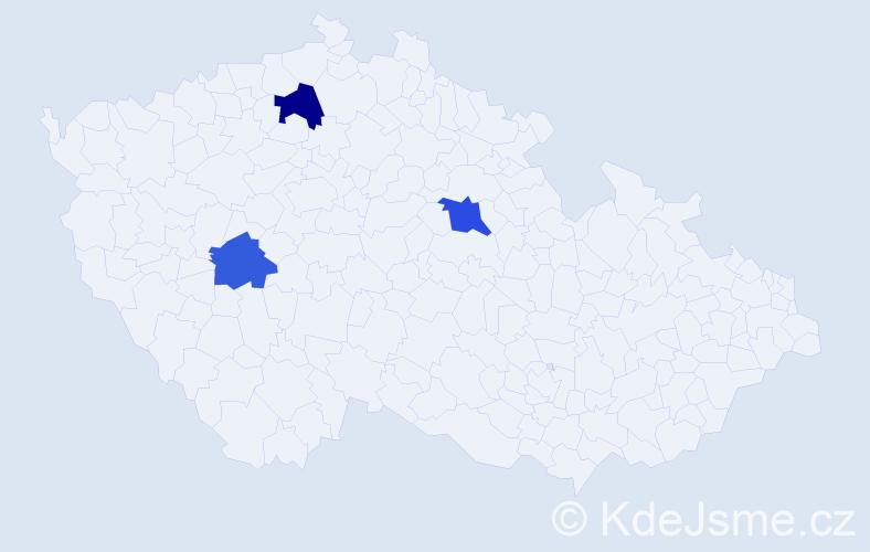 Příjmení: 'Dastlíková', počet výskytů 8 v celé ČR