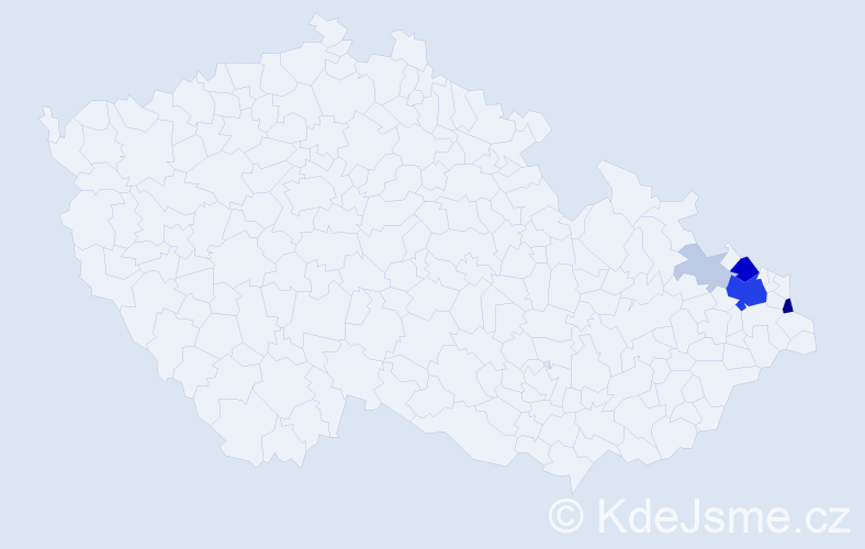 Příjmení: 'Larysz', počet výskytů 23 v celé ČR