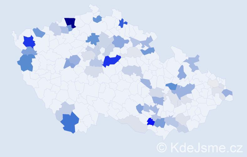Příjmení: 'Drška', počet výskytů 179 v celé ČR