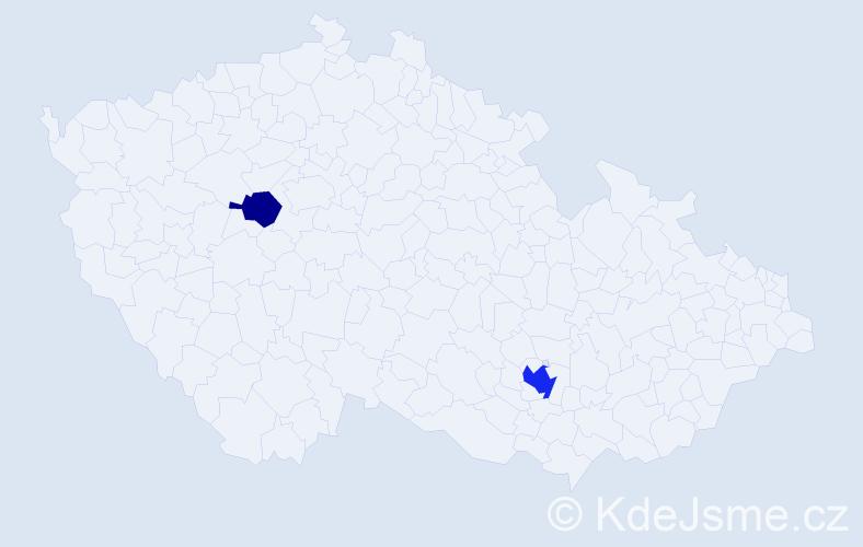 Příjmení: 'Freyburg', počet výskytů 4 v celé ČR