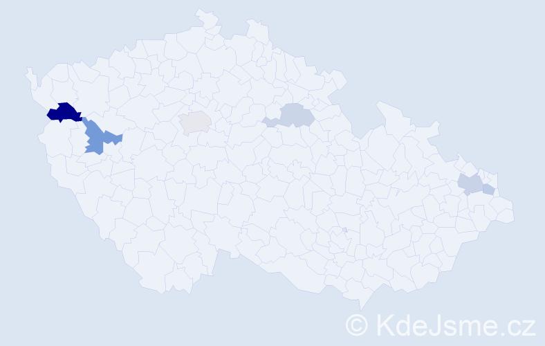 Příjmení: 'Karabínová', počet výskytů 11 v celé ČR