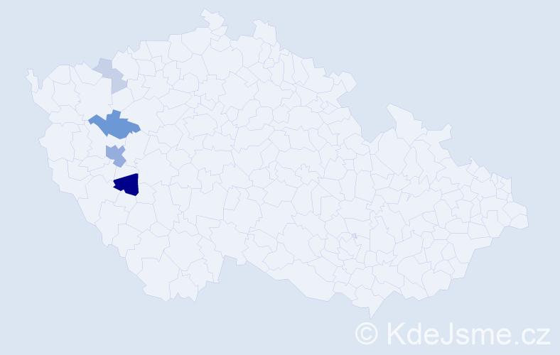 Příjmení: 'Kilbergrová', počet výskytů 12 v celé ČR