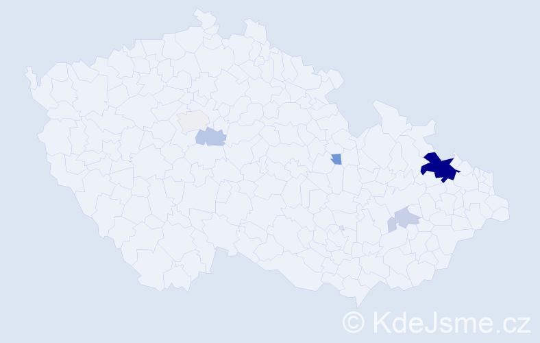 Příjmení: 'Gattnerová', počet výskytů 17 v celé ČR