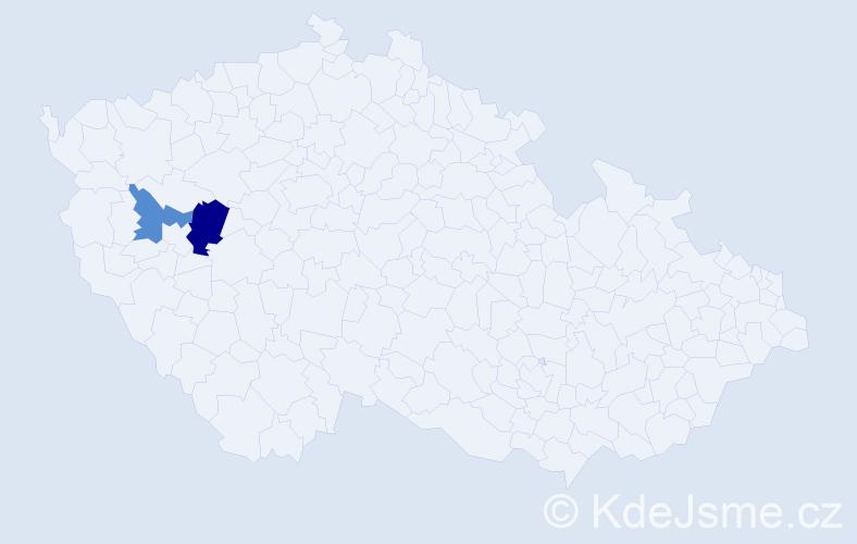 Příjmení: 'Bonants', počet výskytů 3 v celé ČR
