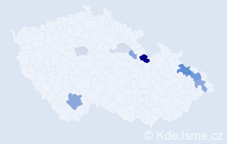 Příjmení: 'Larischová', počet výskytů 38 v celé ČR