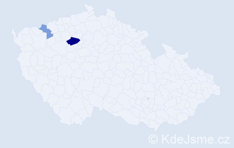 Příjmení: 'Ciferová', počet výskytů 4 v celé ČR