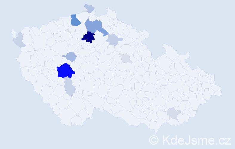 Příjmení: 'Hamburg', počet výskytů 44 v celé ČR