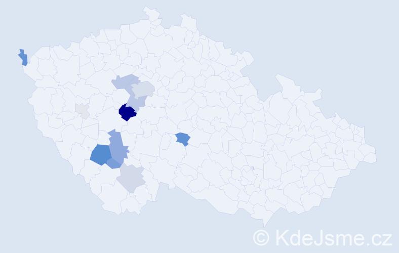 Příjmení: 'Chumanová', počet výskytů 39 v celé ČR