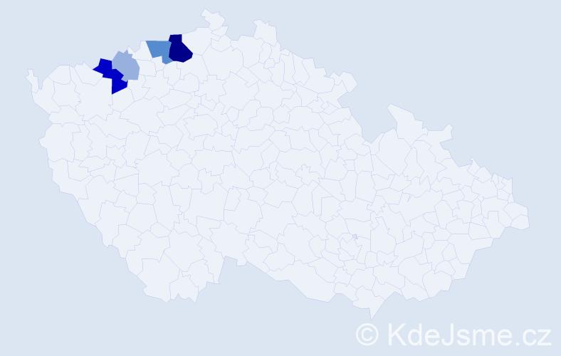 Příjmení: 'Klepsch', počet výskytů 14 v celé ČR