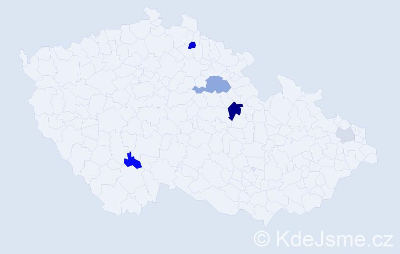 Příjmení: 'Legáthová', počet výskytů 8 v celé ČR