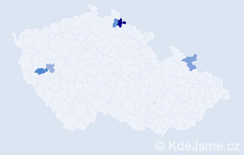 Příjmení: 'Djadik', počet výskytů 8 v celé ČR