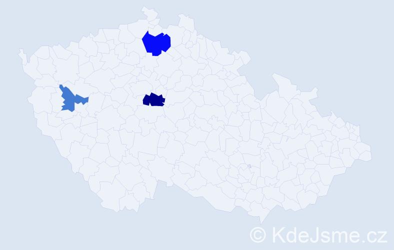 Příjmení: 'Čekelský', počet výskytů 5 v celé ČR