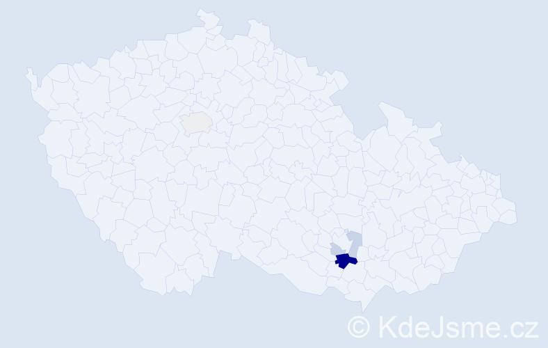 Příjmení: 'Chudosovcevová', počet výskytů 8 v celé ČR