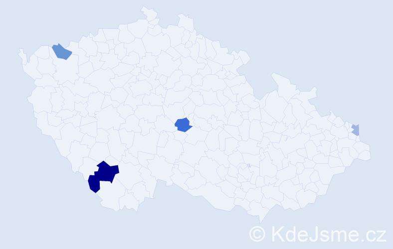 Příjmení: 'Hanakovičová', počet výskytů 6 v celé ČR