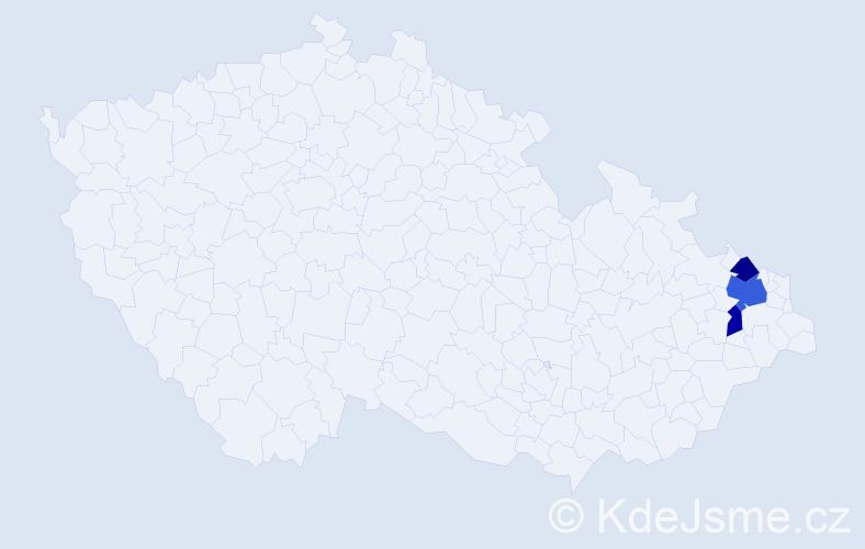 Příjmení: 'Grűmannová', počet výskytů 5 v celé ČR