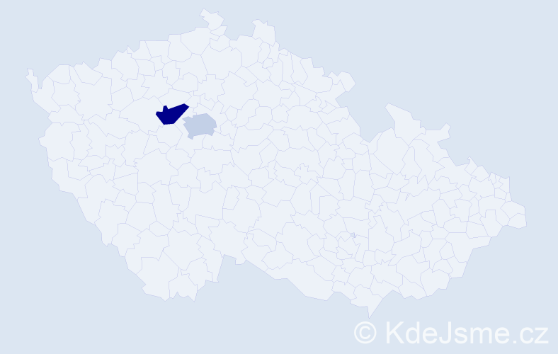 Příjmení: 'Gecovová', počet výskytů 5 v celé ČR