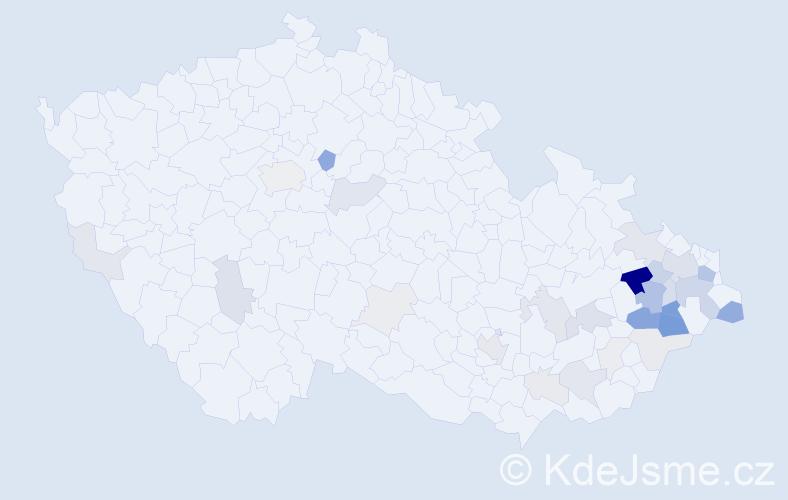 Příjmení: 'Cibulec', počet výskytů 110 v celé ČR