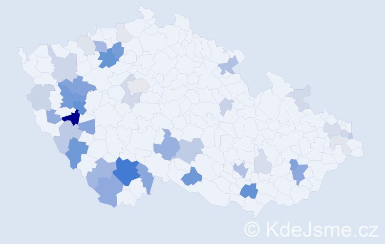Příjmení: 'Fux', počet výskytů 142 v celé ČR