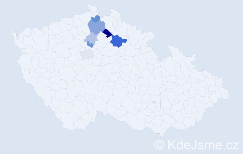 Příjmení: 'Barkmanová', počet výskytů 20 v celé ČR