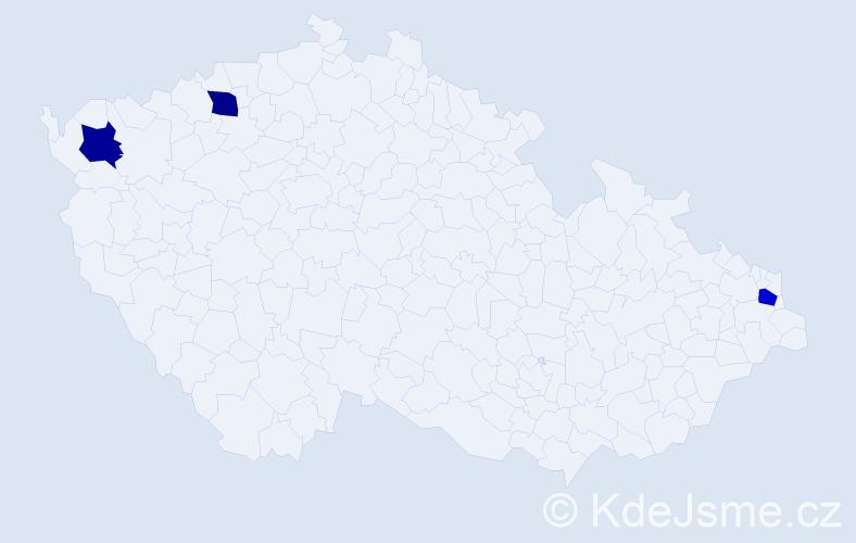 Příjmení: 'Fürhofer', počet výskytů 3 v celé ČR