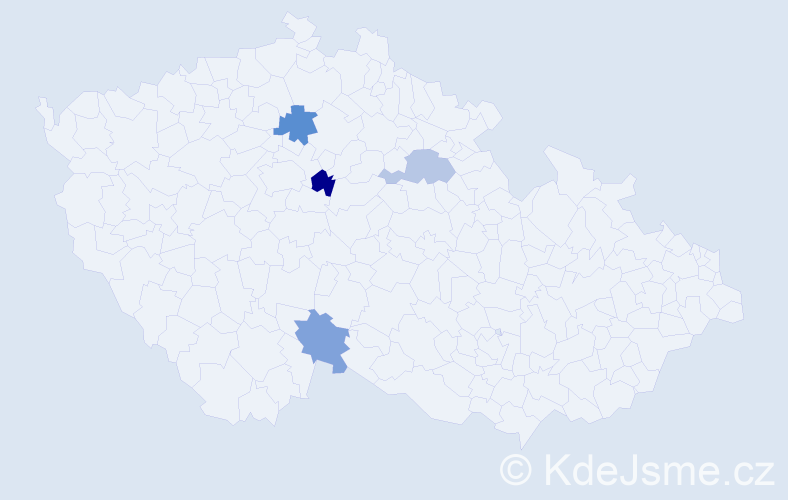 Příjmení: 'Ištvániková', počet výskytů 10 v celé ČR