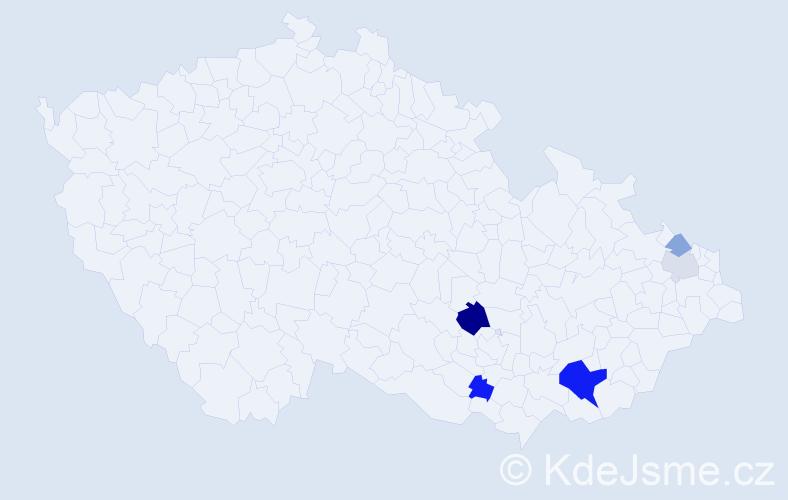 Příjmení: 'Hořinek', počet výskytů 12 v celé ČR