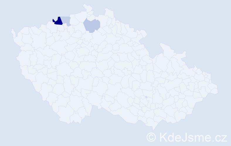 Příjmení: 'Lahmerová', počet výskytů 7 v celé ČR