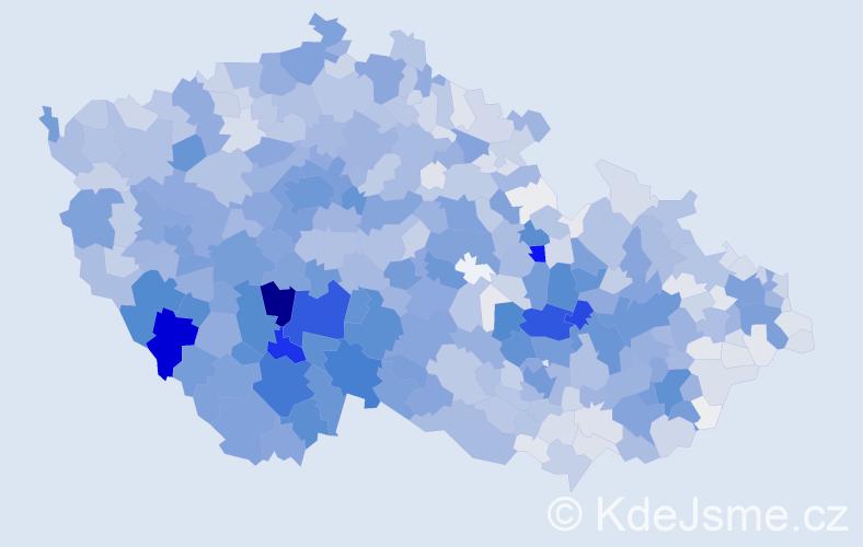 Příjmení: 'Kolářová', počet výskytů 8763 v celé ČR