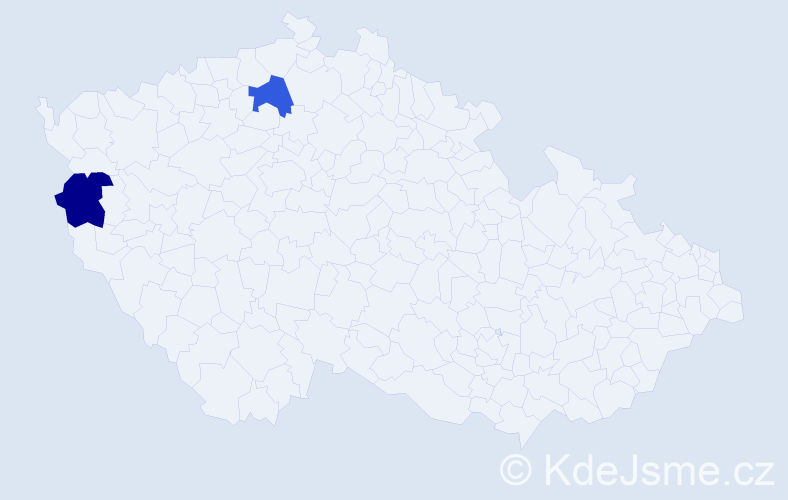 Příjmení: 'Bouhenna', počet výskytů 2 v celé ČR