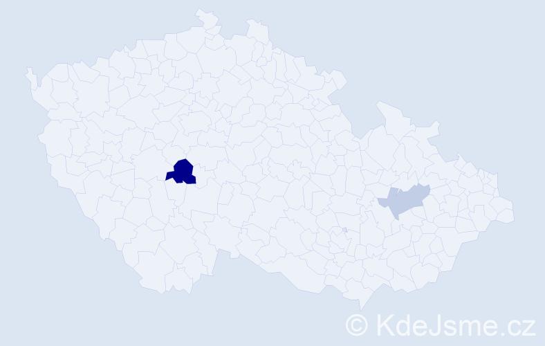 Příjmení: 'Čeppová', počet výskytů 3 v celé ČR