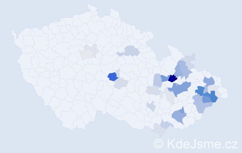 Příjmení: 'Dobrozemská', počet výskytů 99 v celé ČR